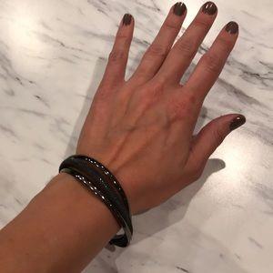 lia sophia Hematite Mesh Cuff Bracelet